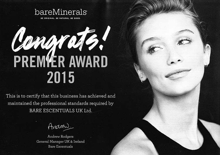 Congrats to us! bareMinerals Premier Award Winners 2015
