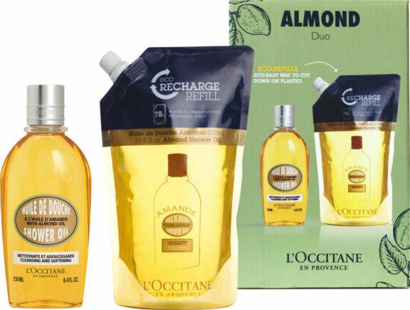 l occitane almond shower oil and refill duo
